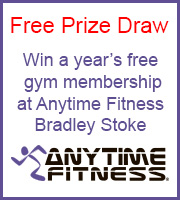 Free prize draw: Win a year's free gym membership at Anytime Fitness, Bradley Stoke.