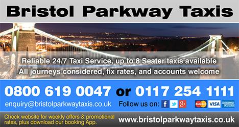 Bristol Parkway Taxis - serving Bradley Stoke.