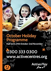 October half-term holiday activities at Bradley Stoke Leisure Centre.