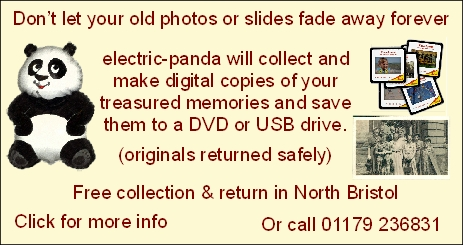 electric-panda: photo and slide copying service in Bradley Stoke, Bristol.