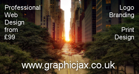 GraphicJax - web design, branding, logo and print services in Bristol.
