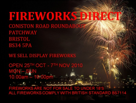 Fireworks Shop, Patchway, Bristol