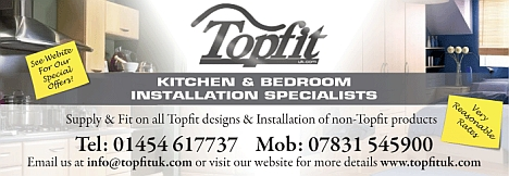 Topfit kitchen and bathroom installation specialists. Bradley Stoke, Bristol.