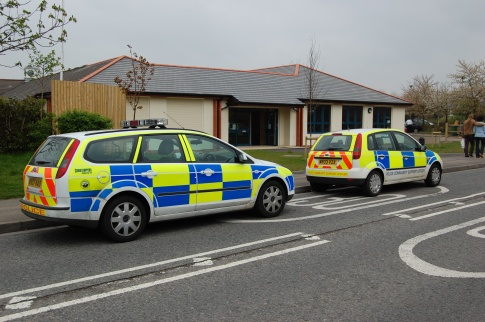 Police Cars Parked Outside Baileys Court Activity Centre