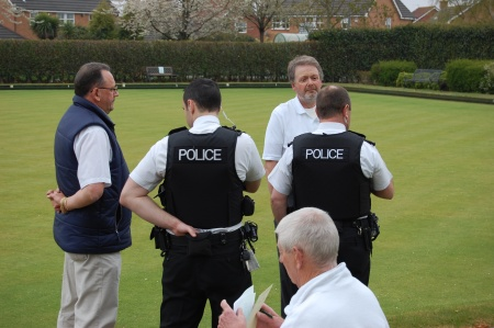 Police Question Bowlers at Baileys Court