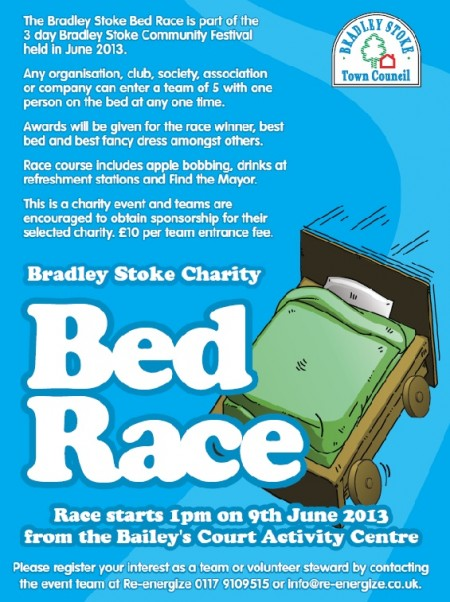 Bradley Stoke Charity Bed Race on Sunday 9th June 2013.