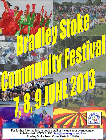 Poster for the 2013 Bradley Stoke Community Festival.