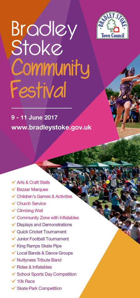 Flyer for the Bradley Stoke Community Festival 2017.