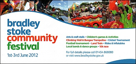 Flyer for the Bradley Stoke Community Festival 2012.