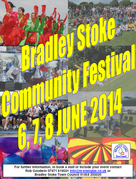 Poster for the 2014 Bradley Stoke Community Festival.