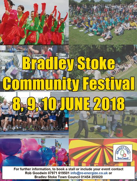 Advert for the Bradley Stoke Community Festival 2017.