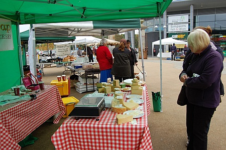 Farmers' Market at the Willow Brook Centre, Bradley Stoke, Bristol.