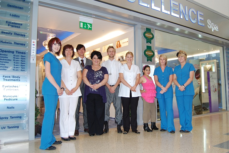 The staff of Excellence Spa, Bradley Stoke, Bristol.