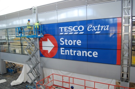 Tesco Extra Store Entrance