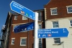 Signpost near Savages Wood Roundabout, Bradley Stoke, Bristol.