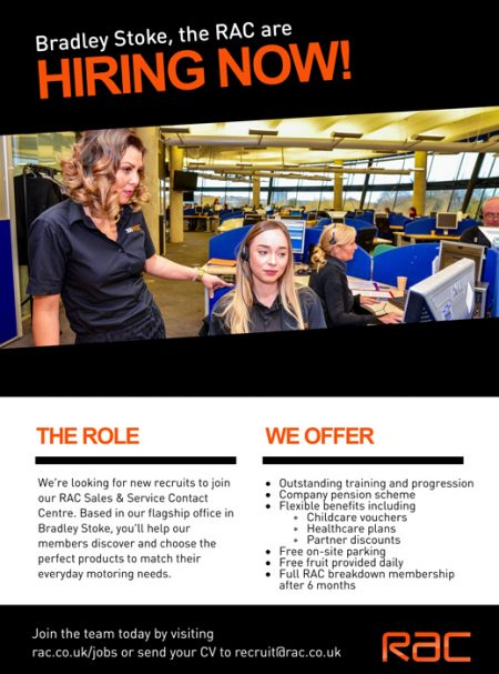 RAC jobs in Bradley Stoke.