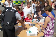 Police at the Bradley Stoke Community Festival