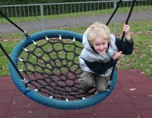 Youngster on Play Equipment