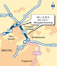 M4/M5 Managed Motorways Scheme near Bristol