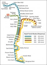 Proposed Rapid Transit Service Network