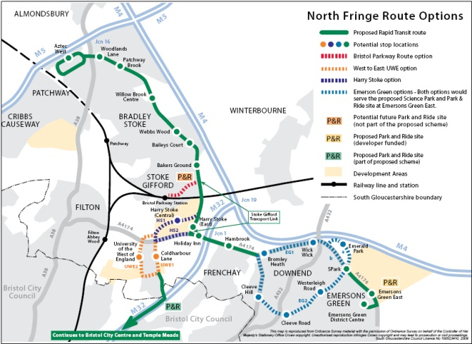 North Fringe Rapid Transit Route Options
