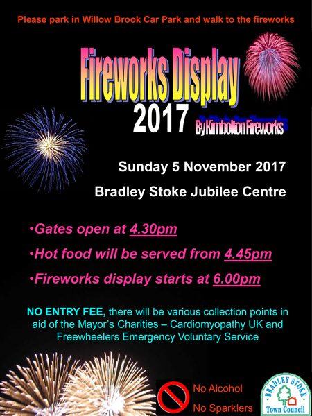 Bradley Stoke Fireworks Display 2017.
