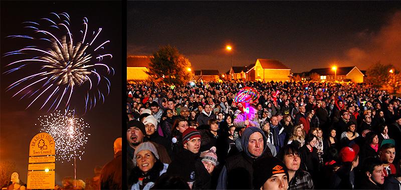 Bradley Stoke Fireworks Display.