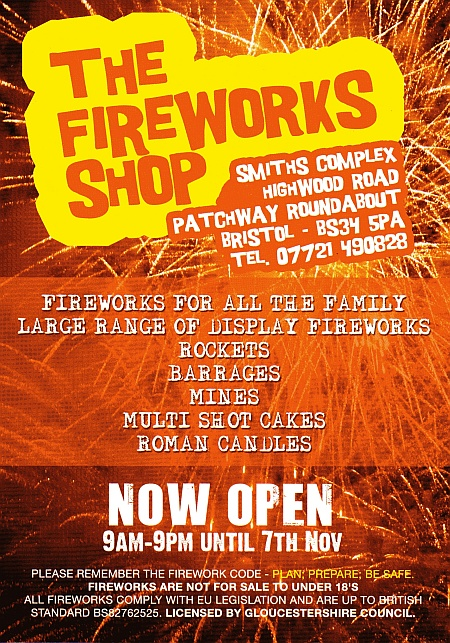 The Fireworks Shop, Patchway, Bristol