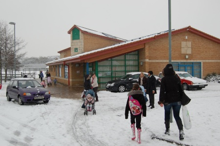 Meadowbrook School in the Snow