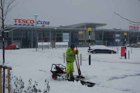 Willow Brook Centre in the Snow