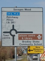 Road Sign on Bradley Stoke Way