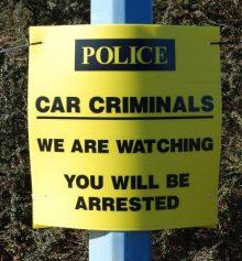 Police car crime poster