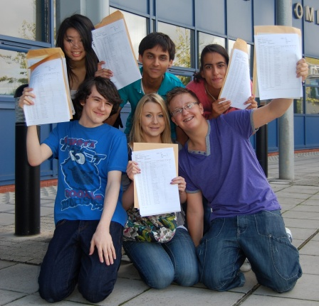 GCSE Results Day 2010 at Bradley Stoke Community School