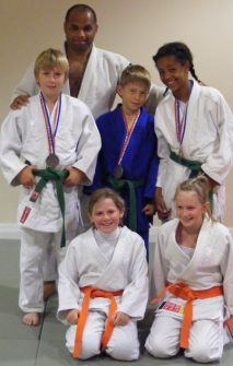 Bradley Stoke Judo Club competitors and medal winners at the 2010 National Championships