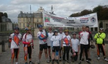 Champs-sur-Marne twinning visit - cyclists