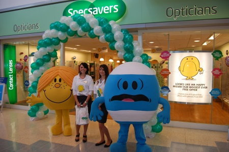 Mister Men at Specsavers, Bradley Stoke, Bristol