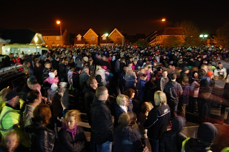 Crowds at Bradley Stoke Fireworks Display 2010