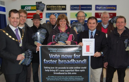 Filton and Bradley Stoke Conservatives campaigning for faster broadband