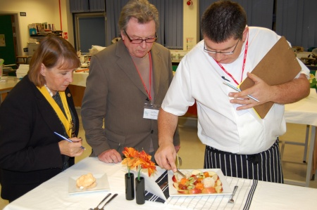 Judges at the Rotary Club Young Chef of the Year competition