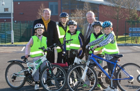 Bikeability training at Bradley Stoke Community School