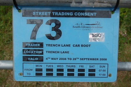 Trench Lane: Street Trading Consent