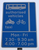 A38 Gloucester Road bus lane sign