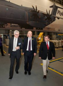 MPs Vince Cable and Jack Lopresti visit Airbus, Filton