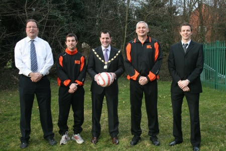 Bradley Stoke Town FC with Mayor Ben Walker