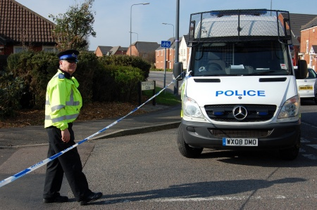 Police seal off Merryweather Close, Bradley Stoke