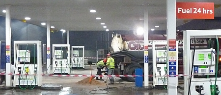 Fuel leak at Tesco Bradley Stoke