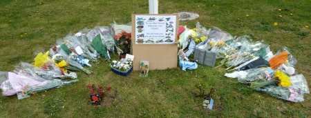 Tributes to Mckenzie and Charlie Whitton at Stoke Lodge Primary School