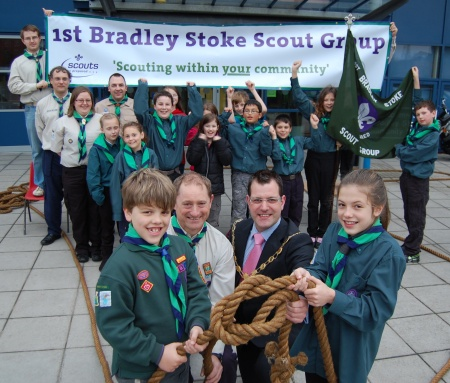 Official opening of the 1st Bradley Stoke Scout Group's new sections at BSCS