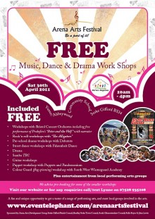 Arena Arts Festival - free music dance & drama workshops