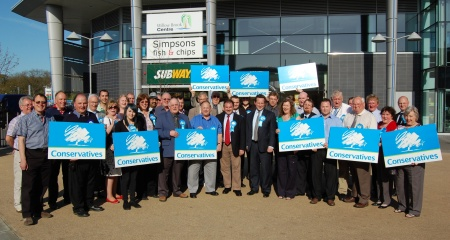 South Glos Conservative manifesto launch in Bradley Stoke